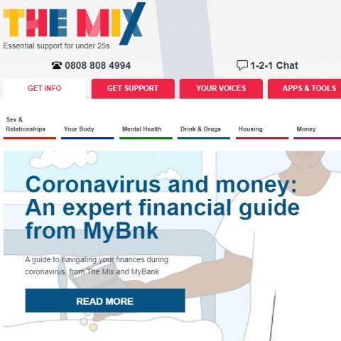 The mix website screenshot