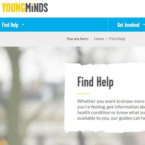 young minds website screenshot