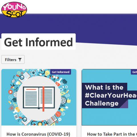 young scot website screenshot