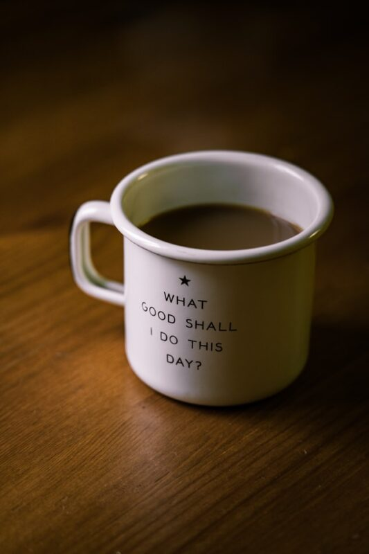 Photo with mug with tea