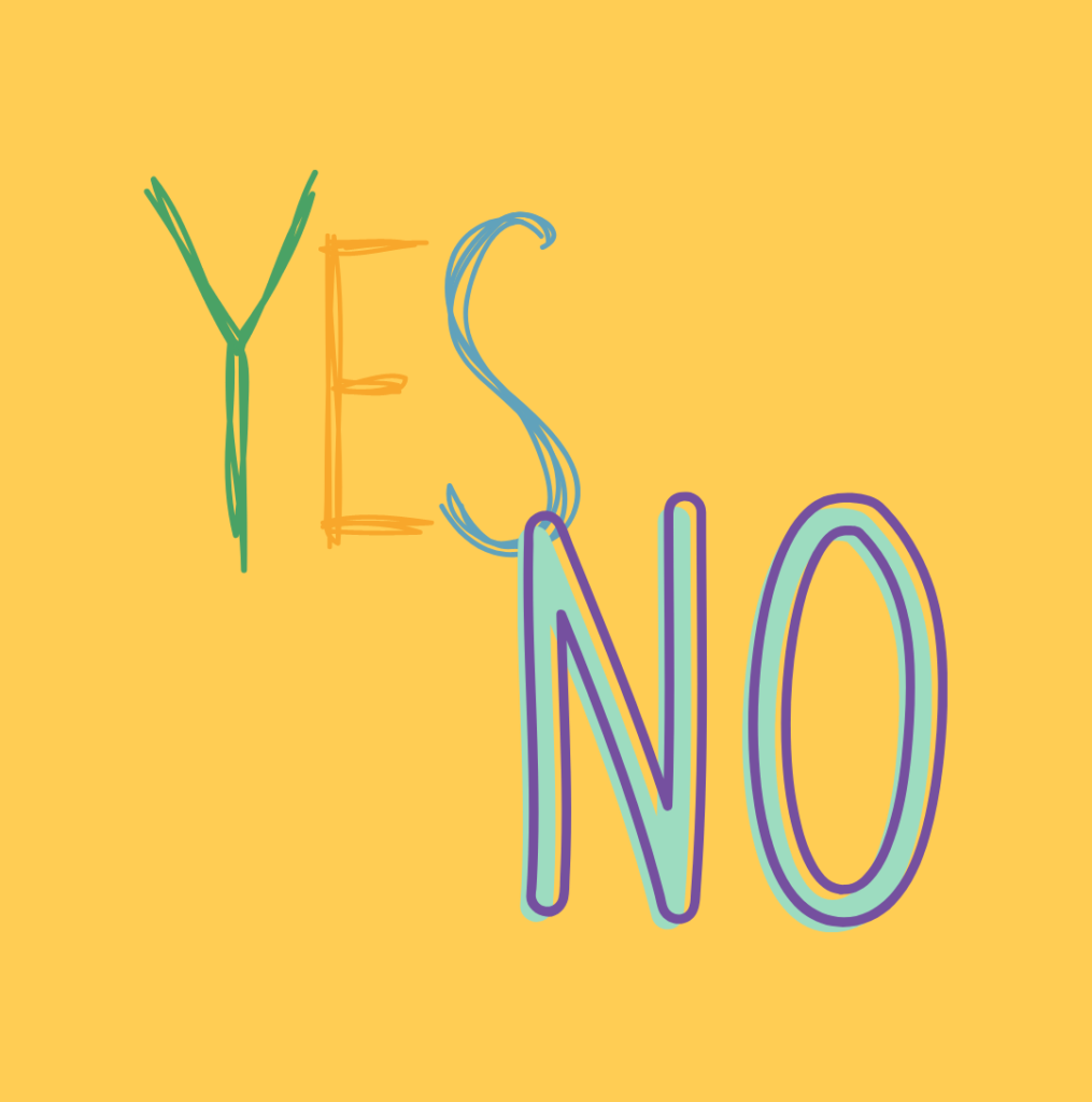 Text says Yes/No