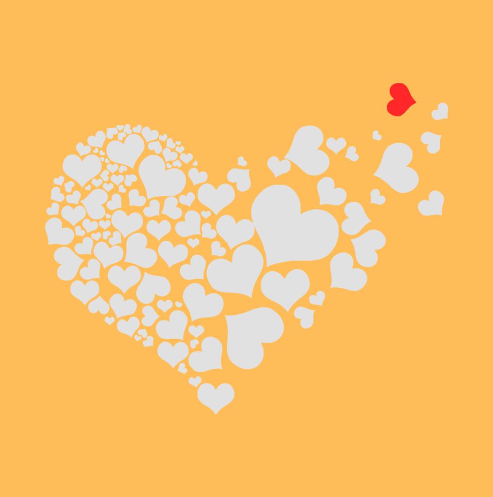 Love Hearts within a big love heart